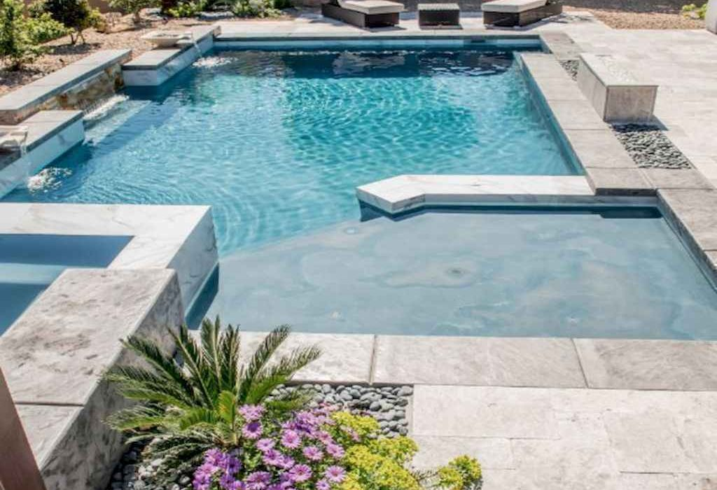 Pool Tanning Ledge with no Loungers